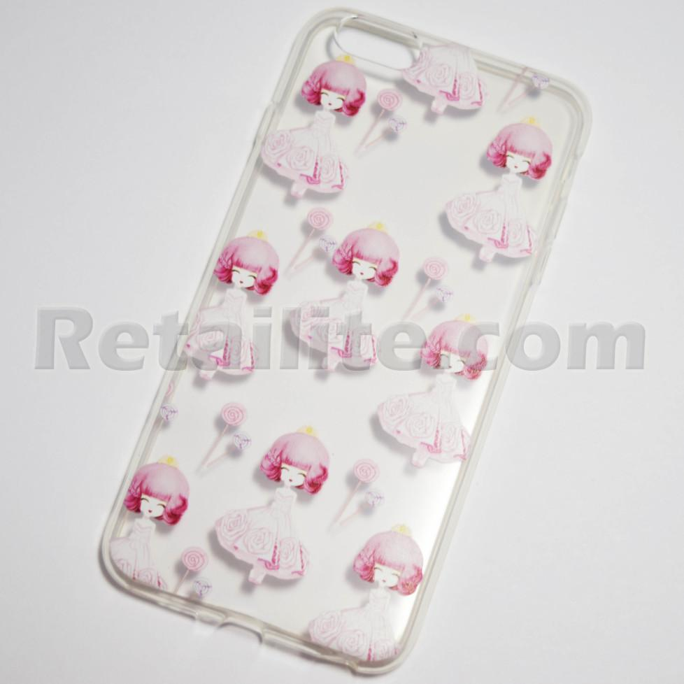 Girl in pink dress with flowers iphone 6 plus 6s plus soft clear girl with pink dress and flowers iphone 6 plus case mightylinksfo