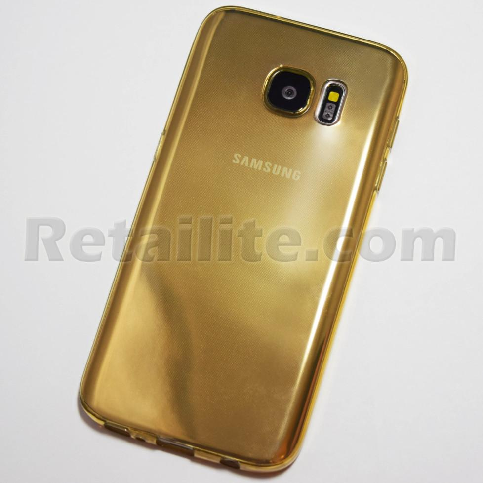 gold transparent galaxy s7 case
