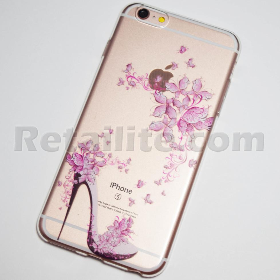 high heel flowers iPhone 6s plus case