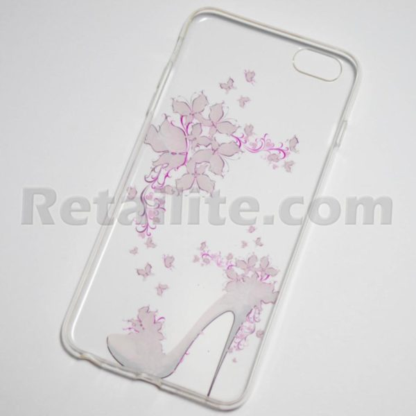 high heel flowers iPhone 6s plus clear case