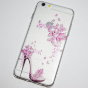 high heel pink flowers iPhone 6 plus case