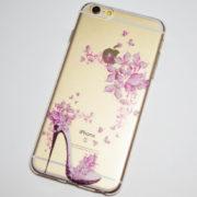 high heel pink flowers iPhone 6s plus case