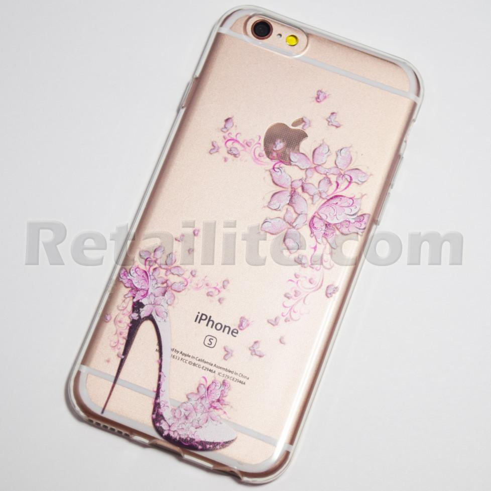 high heels and flowers iPhone 6s case