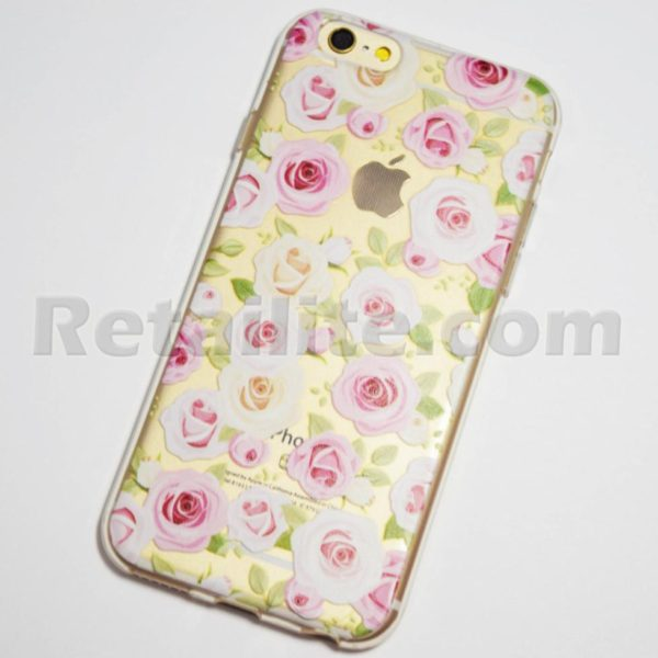 iphone 6s pink and white roses case
