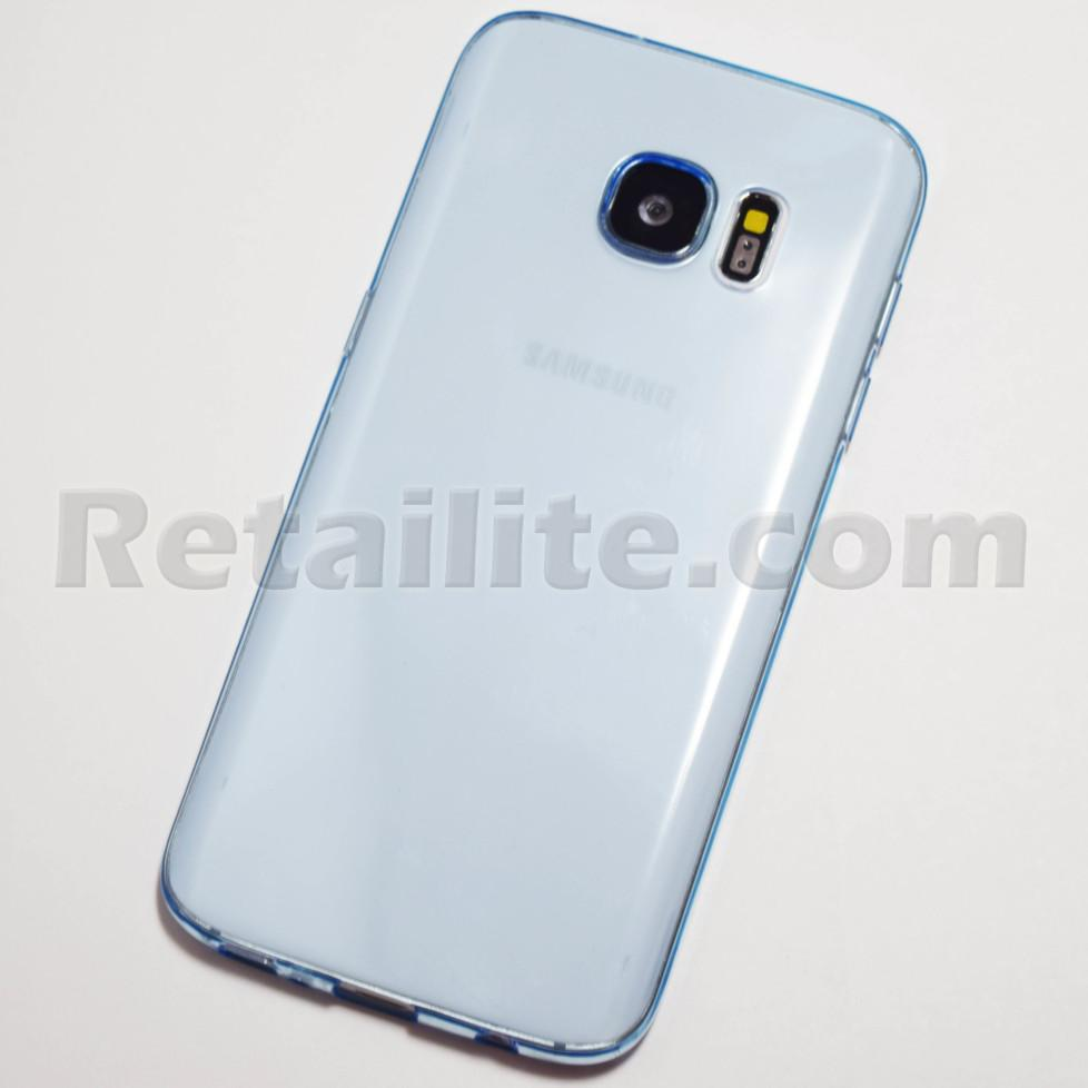 light blue clear galaxy s7 case