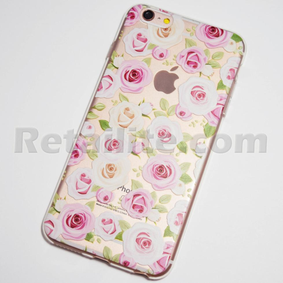 pink and white roses iPhone 6s plus case