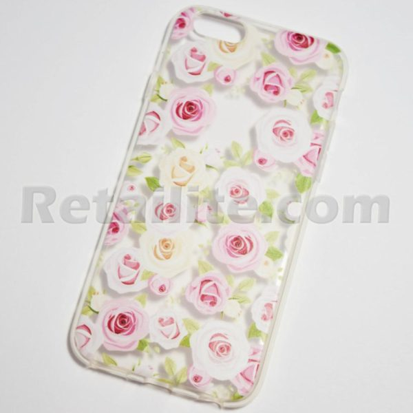 pink and white roses iphone 6s case