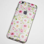 pink and white roses iphone 6s clear case