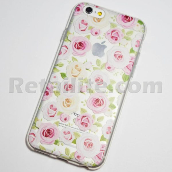 pink and white roses iphone 6s soft case
