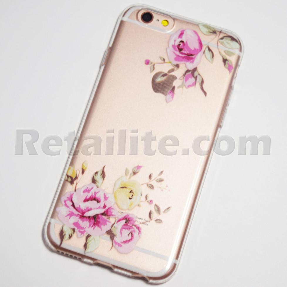 pink and yellow roses iphone 6s soft case