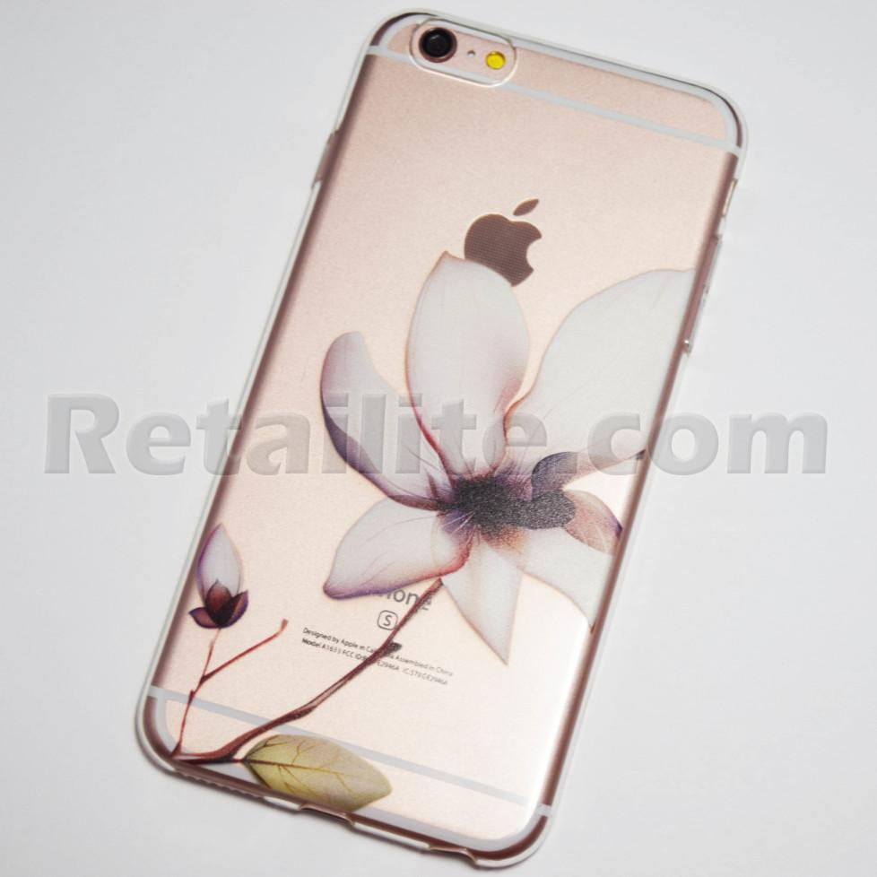Pink Blooming Flower Iphone 6 Plus 6s Plus Clear Soft Case