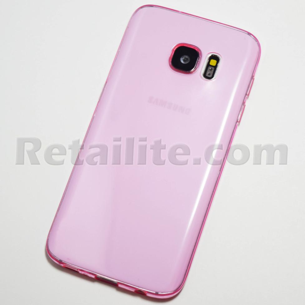 pink clear galaxy s7 case
