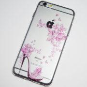 pink high heel flowers iPhone 6s plus case