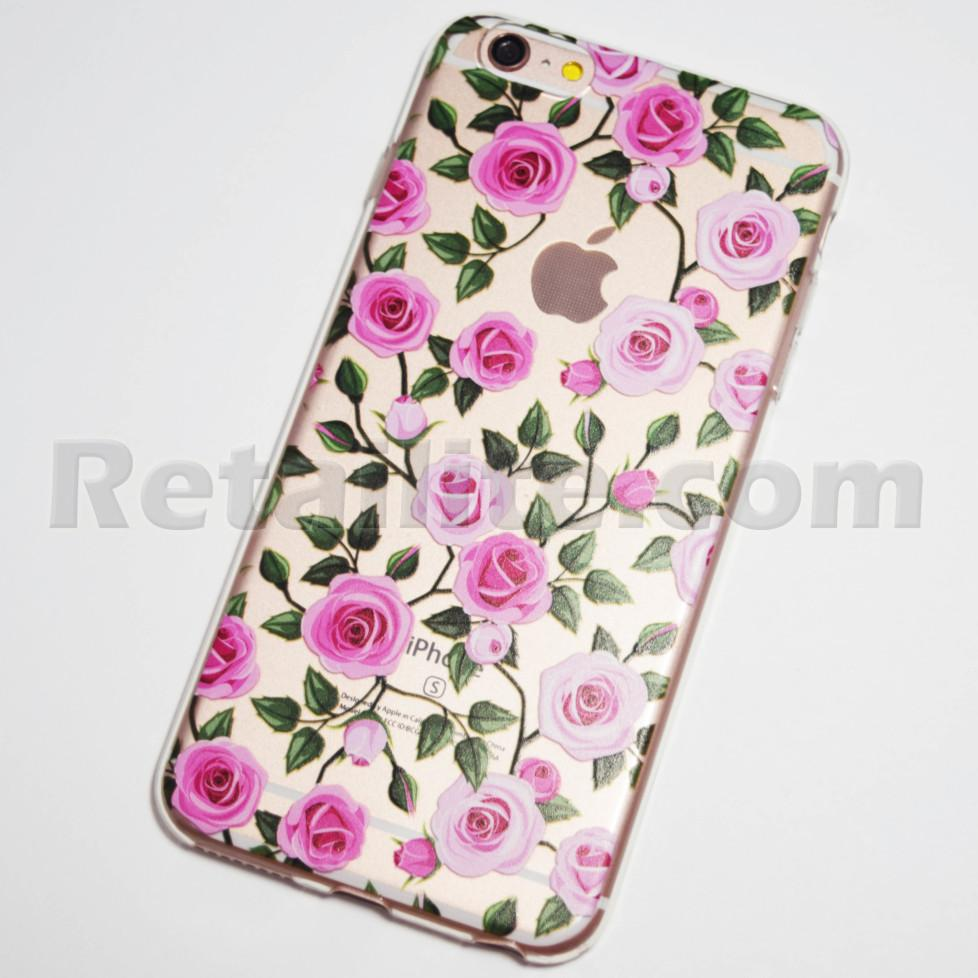 pink roses iphone 6s plus clear case