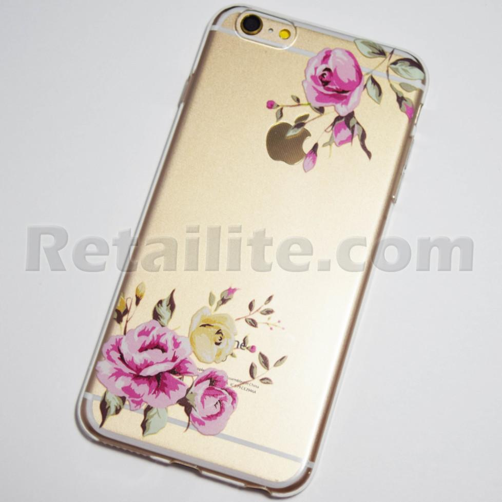 pink yellow roses iphone 6 plus soft case
