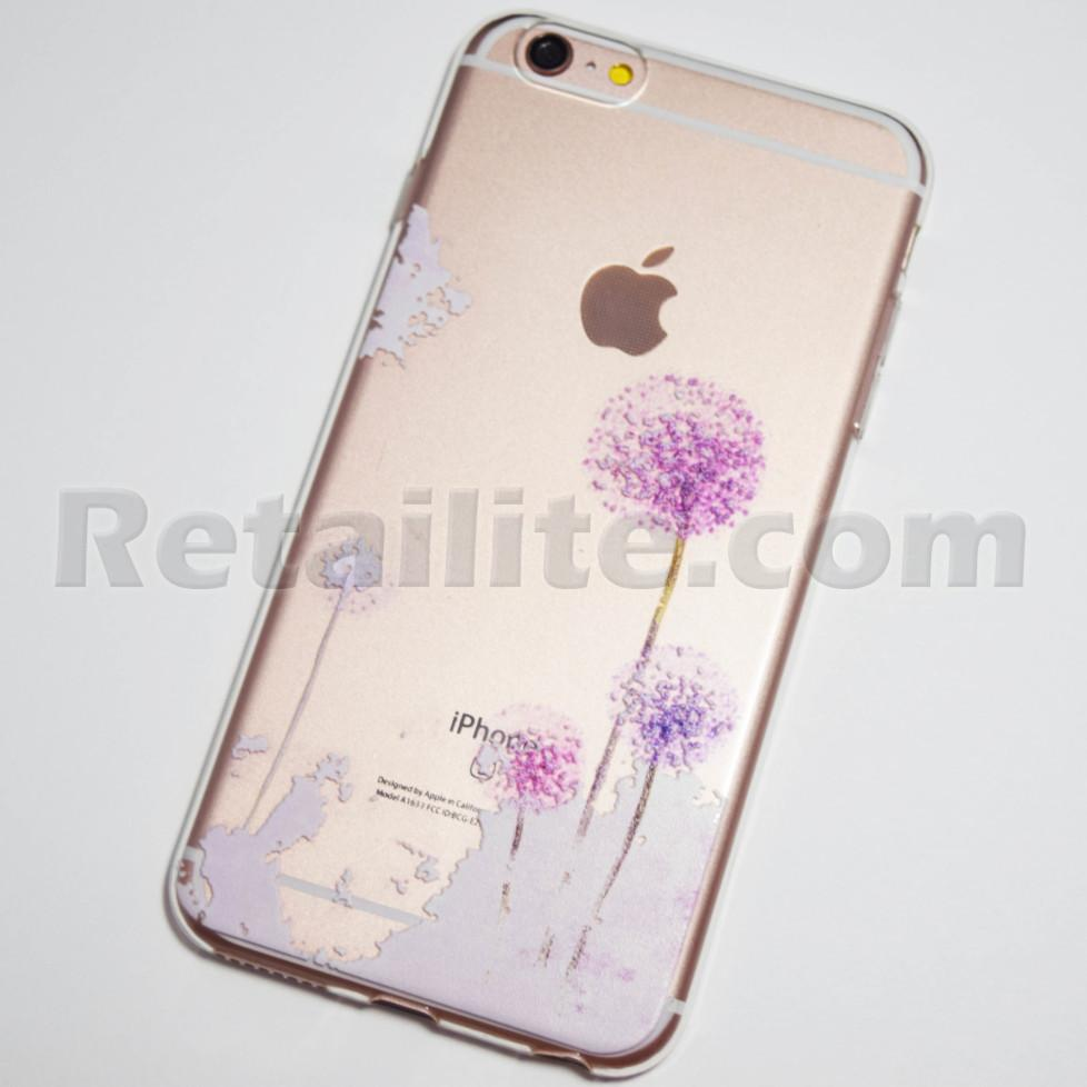 purple dandelions iphone 6s plus case