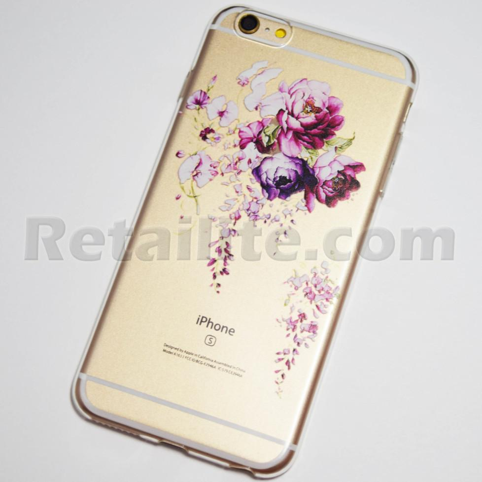 purple roses iphone 6s plus case