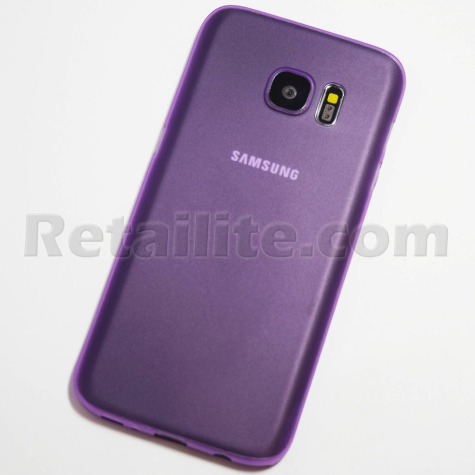 Purple Samsung Galaxy S7 Slim Case Retailite