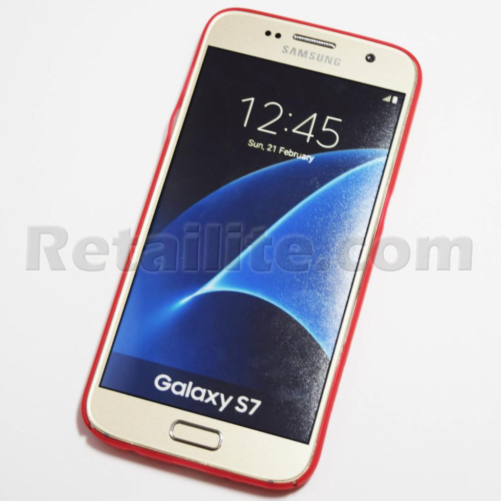 Red Samsung Galaxy S7 Slim Case Retailite