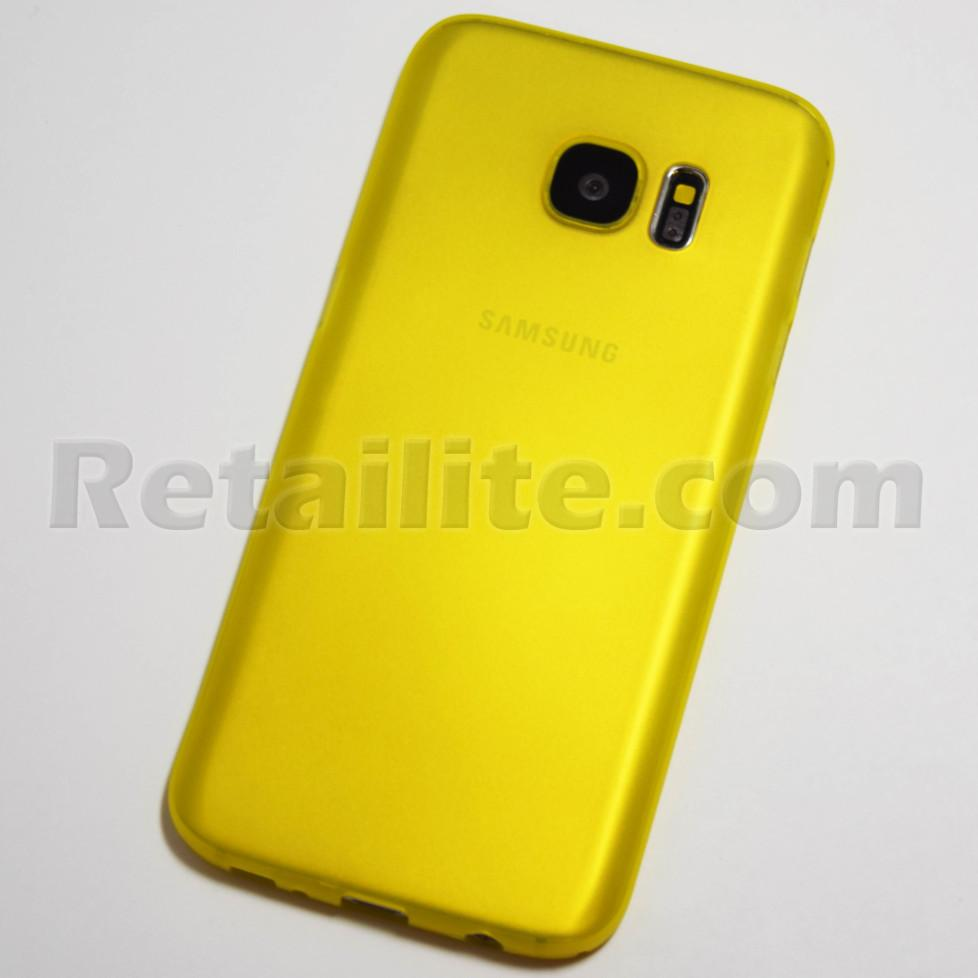 Yellow Samsung Galaxy S7 Slim Case Retailite