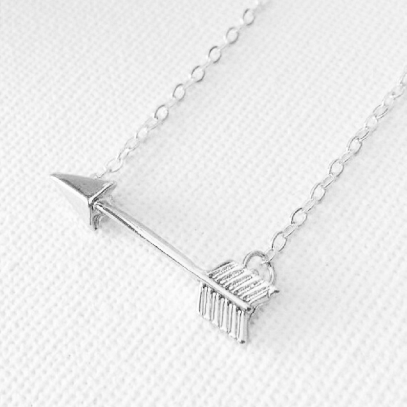 Silver One Direction Arrow Necklace