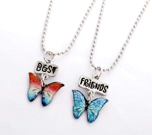 Butterfly Pendant Best Friends Bff Friendship Chain