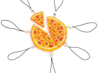 7 piece bff pizza bracelets