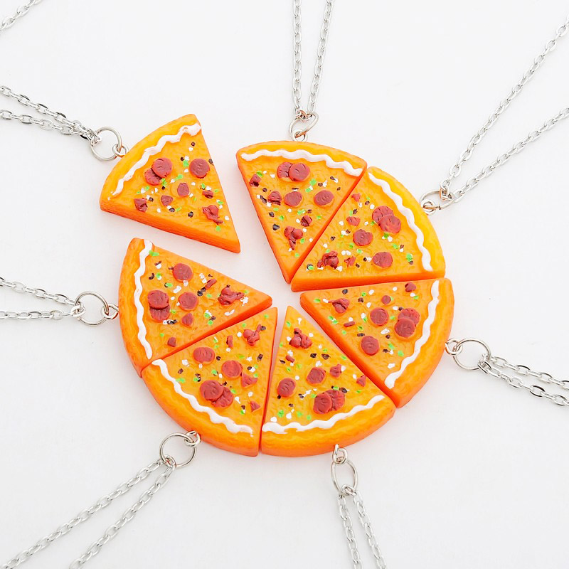 7 piece bff pizza necklaces