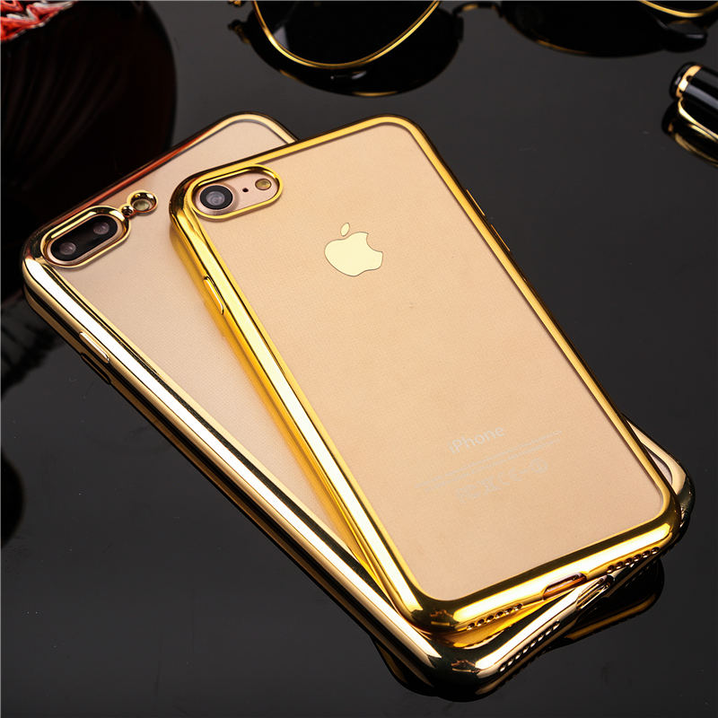 Gold Chrome Framed iPhone 8 plus cases