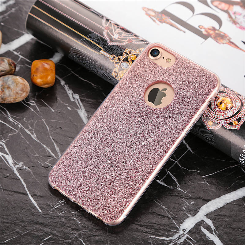glitter silicone iphone 7 plus case