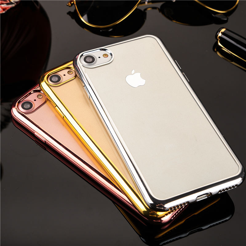 rose gold gold silver space grey Chrome Framed iPhone 8 case