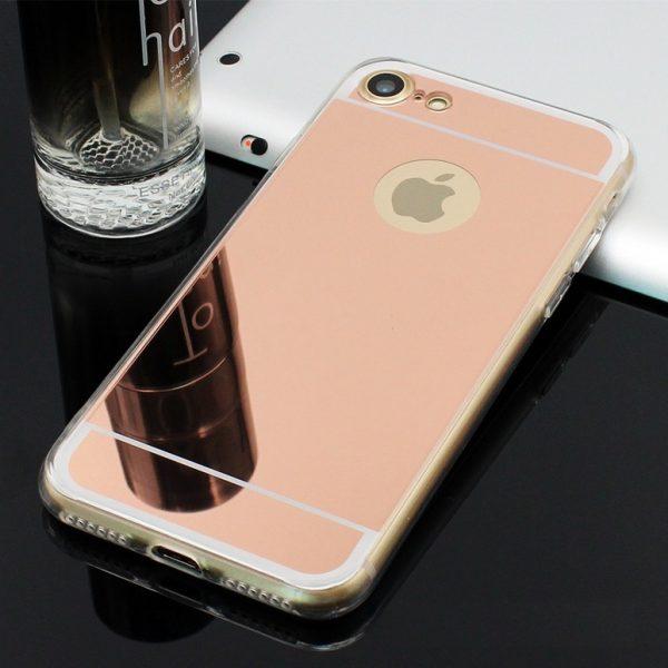 rose gold mirror iphone 7 case