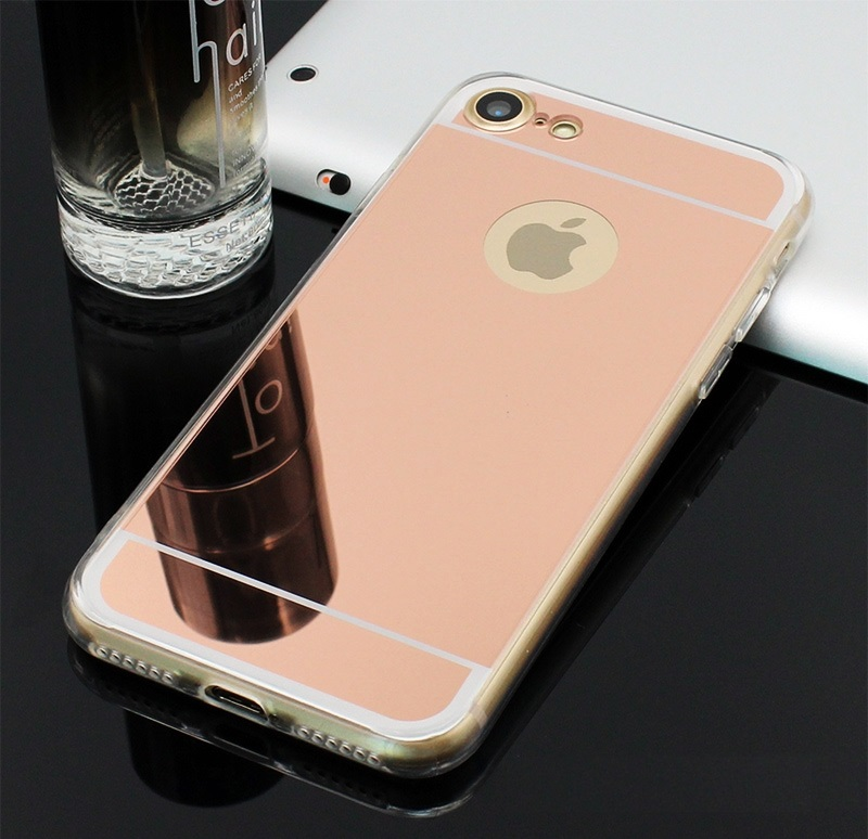 rose gold mirror iphone 8 case
