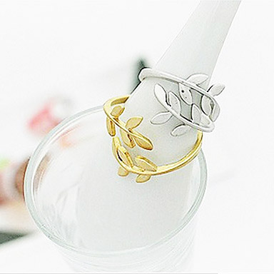 solid cut cz gold yellow wear new ring rings leaf round white