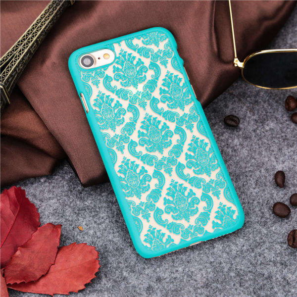 turquoise Vintage flower iphone 7 case