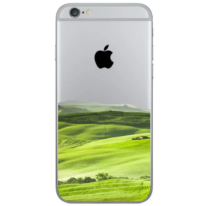 green field hills iphone 8 transparent soft case