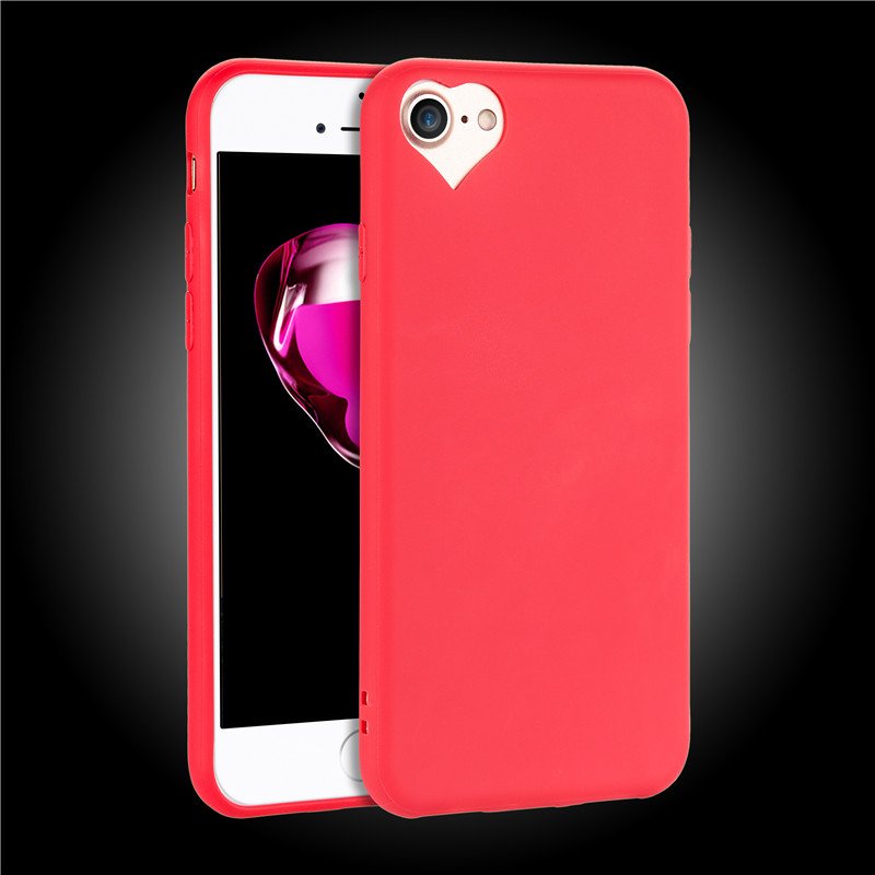 Heart shaped camera hole iphone 8 case