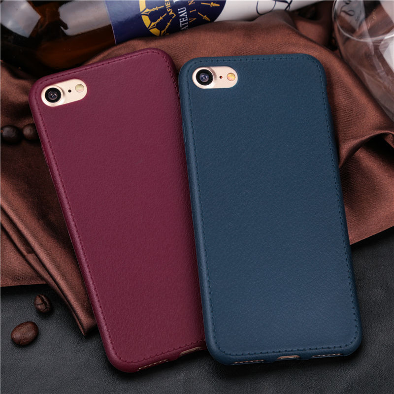 Red and Blue Leather iPhone 8 cases