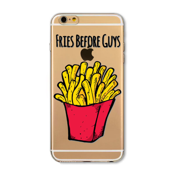 red and yellow fries before guys iphone 7 cartoon case