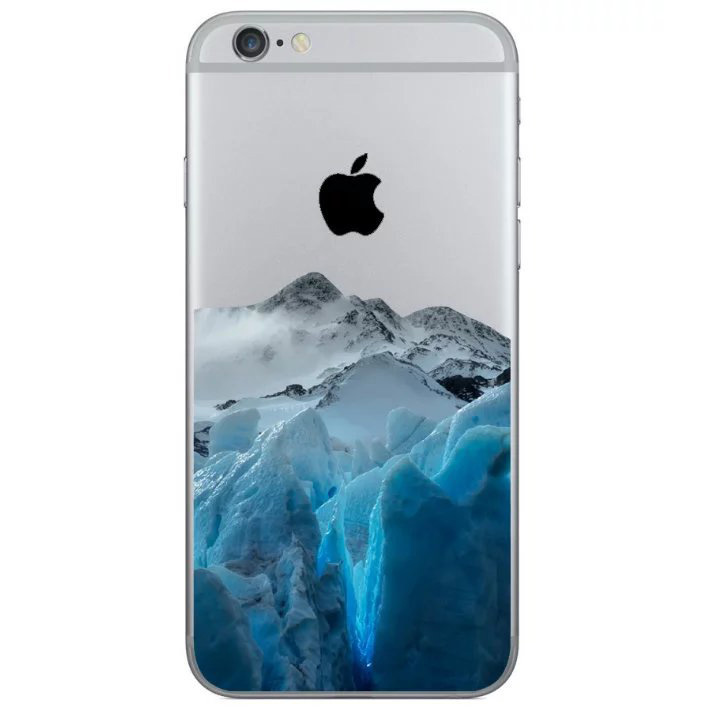snowy mountains iphone 8 transparent soft case