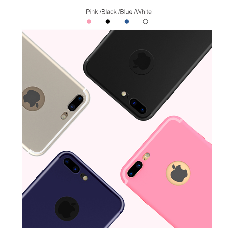 white black pink blue iPhone 7 slim silicone cases