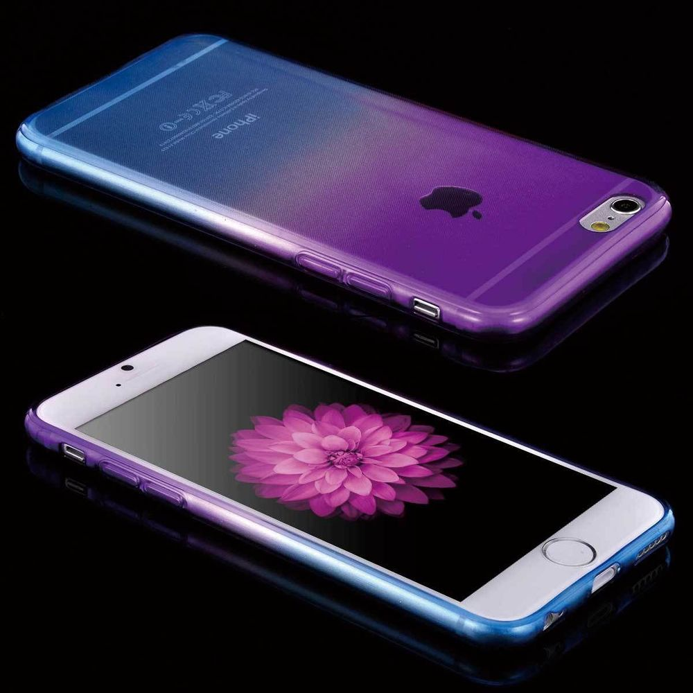 blue purple rainbow gradient iphone 7 plus case
