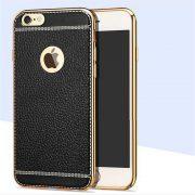 white trim black leather iphone 7 case