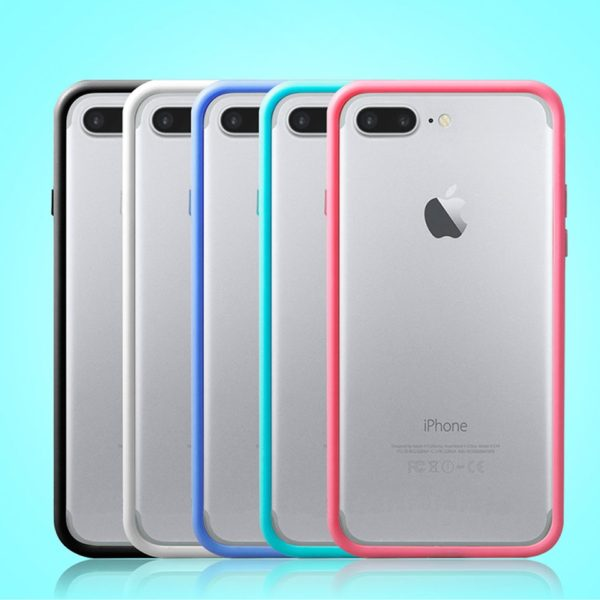 Black White Blue Green Pink iPhone 8 Plus Bumper Cases