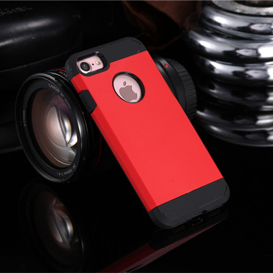 Red Shockproof Armor iPhone 8 Case