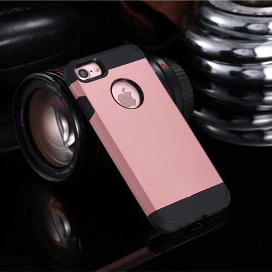Rose Gold Shockproof Armor iPhone 7 Plus Case