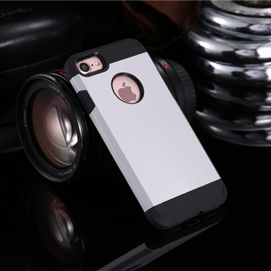 Silver Shockproof Armor iPhone 7 Case