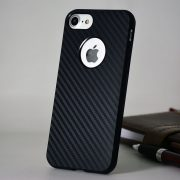 carbon fiber iPhone 7 soft logo case