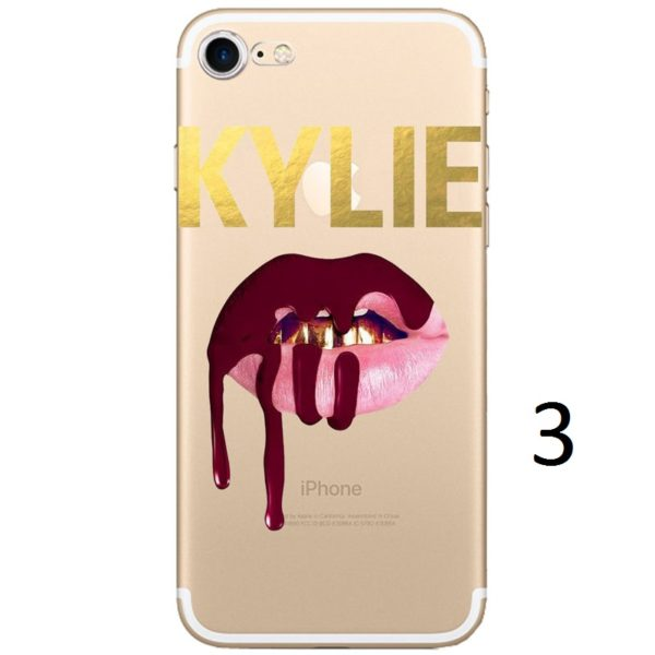 gold kylie writing dripping lips iphone 7 case