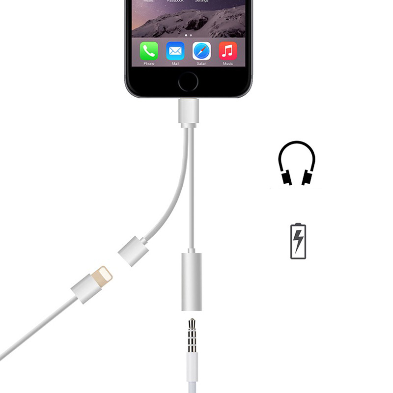 Iphone 7 7 Plus Lightning Port To 3 5mm Headphone And